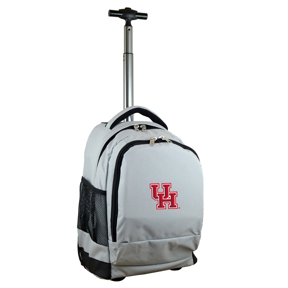 NCAA Houston Cougars Gray Premium Wheeled Backpack