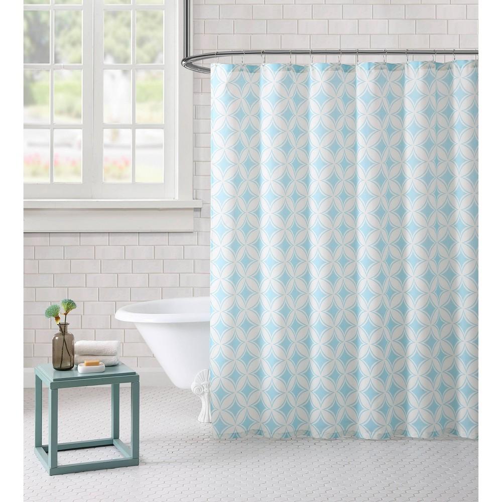 Image of Paisley Shower Curtain Aqua - Freshee