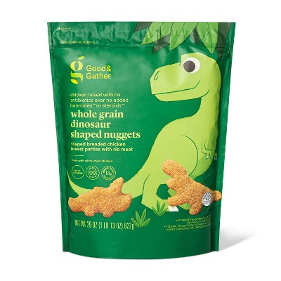 Whole Grain Dinosaur Shaped Chicken Nuggets - Frozen - 29oz - Good & Gather™