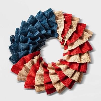19  Patriotic Burlap Wreath - Lloyd & Hannah