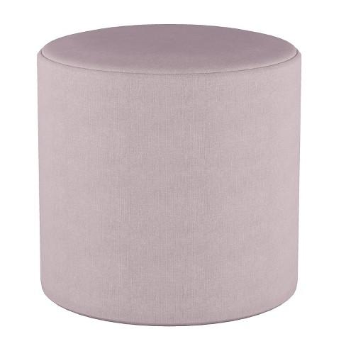 Marvelous Round Ottoman In Linen Smokey Quartz Lavender Project 62 Ibusinesslaw Wood Chair Design Ideas Ibusinesslaworg