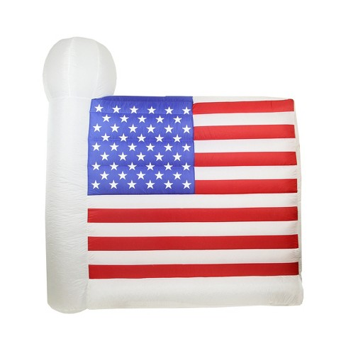 Northlight Inflatable White And Red Lighted Fourth Of July American Flag Outdoor Decor 60 X 67 Target