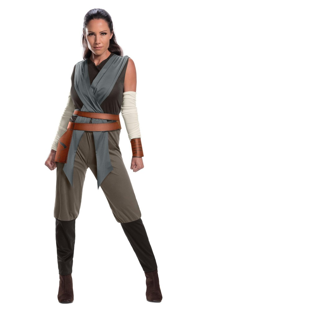Image of Halloween Star Wars Episode VIII - The Last Jedi Women's Rey Costume L, Size: Small, MultiColored
