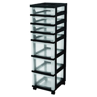 IRIS 7 Drawer Rolling Storage Cart