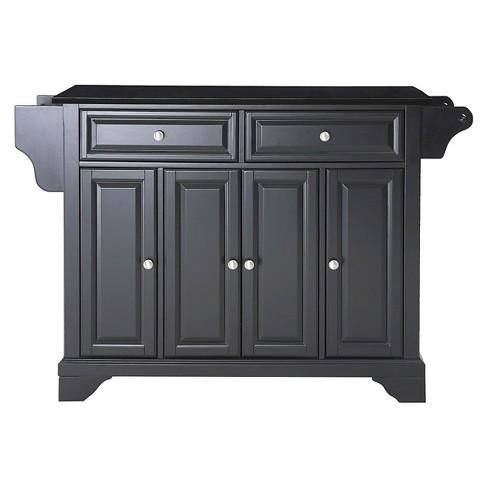 LaFayette Solid Black Granite Top Kitchen Island - Crosley - image 1 of 4