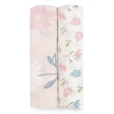 Aden + Anais Essentials Silky Soft Swaddles Vintage Floral - 2pk