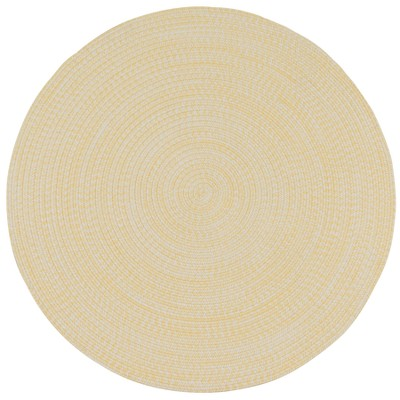 7'X7' Solid Braided Round Area Rug Sunflower - Colonial Mills