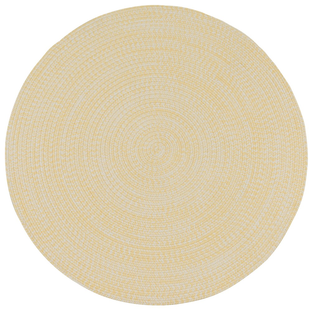 3'X3' Solid Braided Round Area Rug Sunflower - Colonial Mills