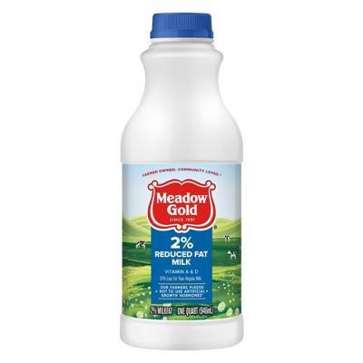 Meadow Gold 2% Reduced Fat Milk - 1qt