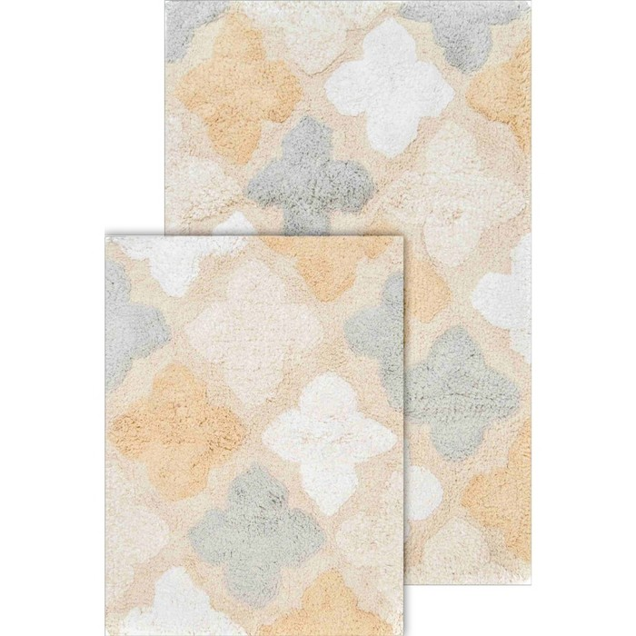 2pc Alloy Moroccan Tiles Bath Rug Set - Chesapeake Merchandising Inc® - image 1 of 4