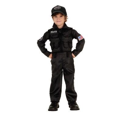 Toddler Policeman Swat Halloween Costume
