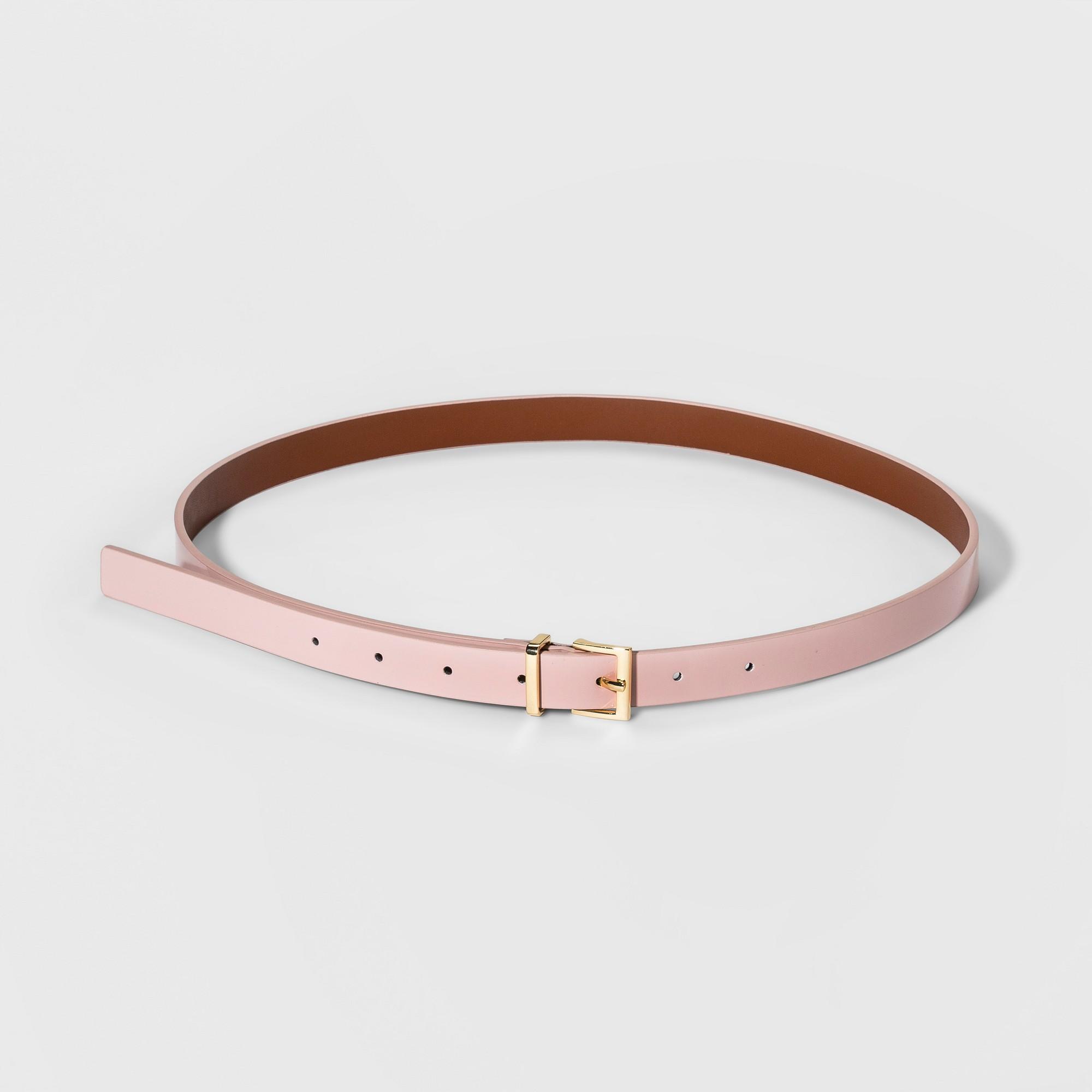 Women's Patent Belts - A New Day Light Pink Xxl