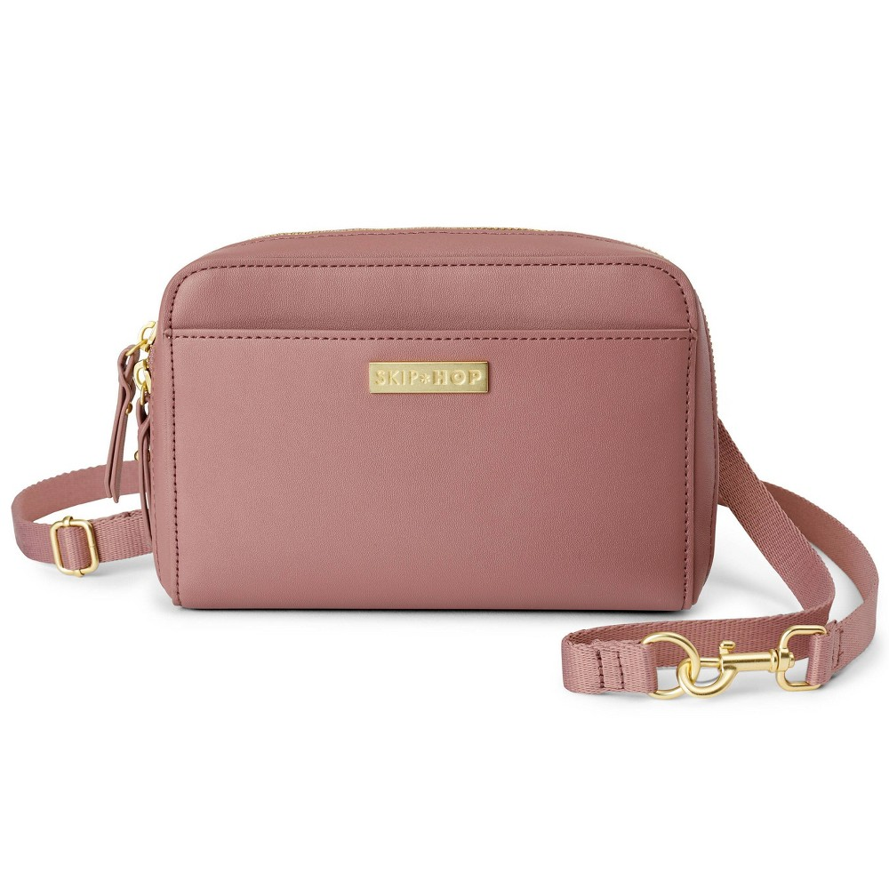 Image of Skip Hop Adjustable Greenwich Easy-Access Convertible Hip Pack Vegan Leather - Dusty Rose