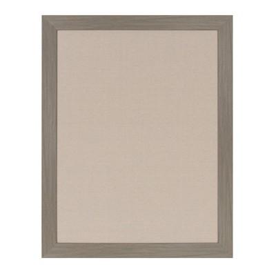 "23"" x 29"" Beatrice Framed Linen Fabric Pinboard Gray - DesignOvation"