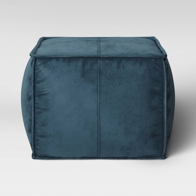Earl Velvet French Seam Pouf Navy - Project 62™