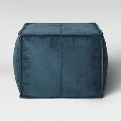 Earl Velvet French Seam Pouf - Project 62™