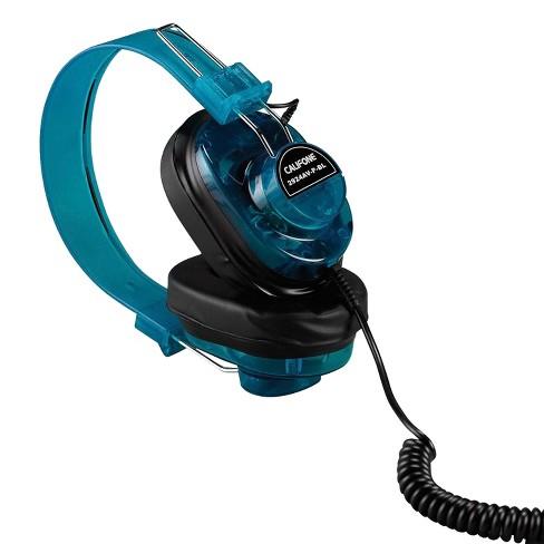 Califone 2924AV-P-BL Deluxe Monaural Over-Ear Headphones, 1/4 inch Plug, Coiled Cord, Blue, Each - image 1 of 1