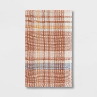Plaid Harvest Hand Towel Red/Cream - Threshold™