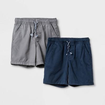 Toddler Boys' 2pk Woven Pull-On Shorts - Cat & Jack™ Navy/Gray