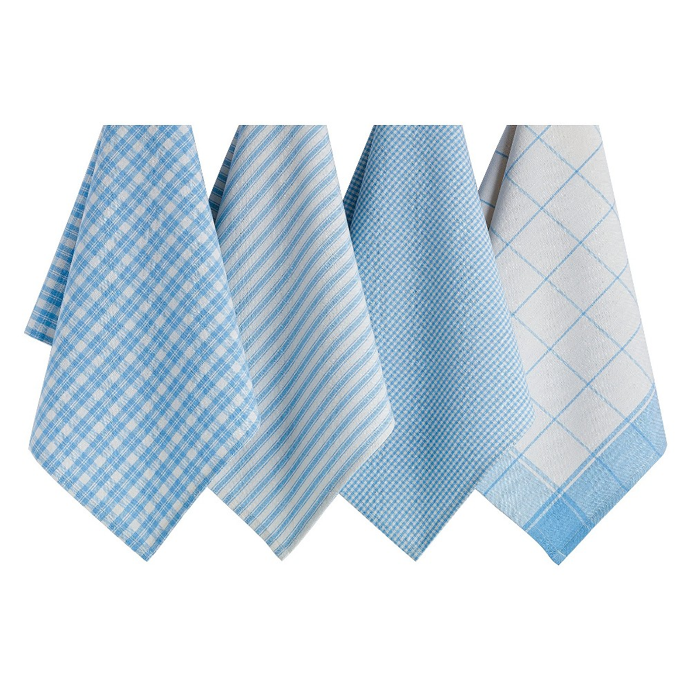 Dishtowels Set Of 4 Dusk - Design Imports, Lite Blue