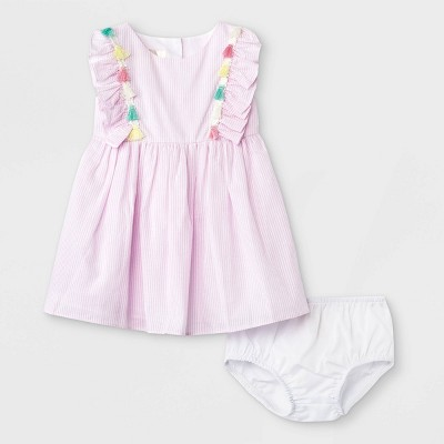 Mia & Mimi Baby Girls' Tassel Dress - Pink