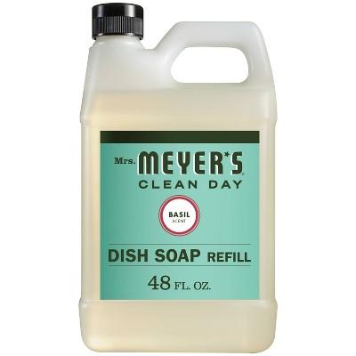 Mrs. Meyer's Liquid Dish Refill Basil - 48 fl oz