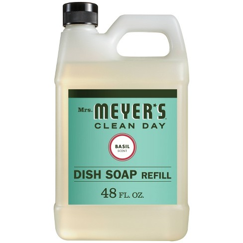 Mrs. Meyer's Liquid Dish Refill Basil - 48 fl oz - image 1 of 3