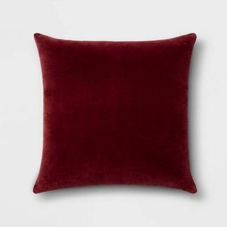 Velvet Square Pillow Berry - Threshold™