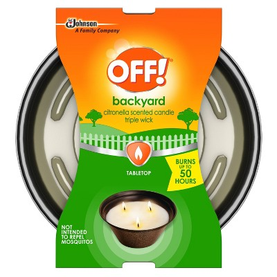 OFF! 23oz Triple Wick Citronella Candle