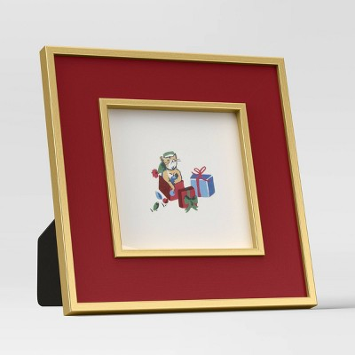 "4"" x 4"" 'Holiday' Single Image Frame Red - Threshold™"