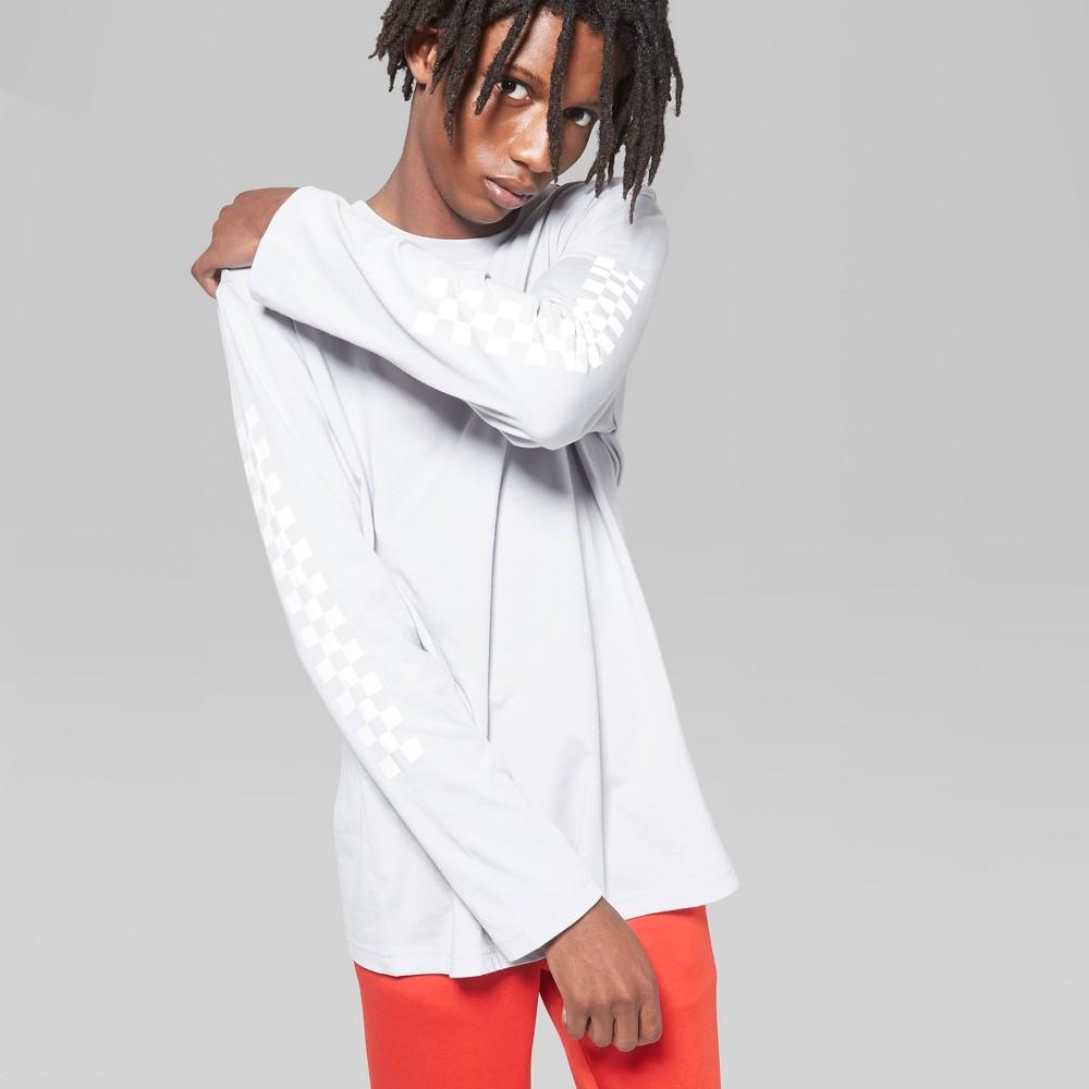 Men's Long Sleeve Printed T-Shirt - Original Use Masonry Gray S