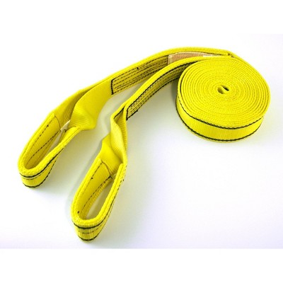 Progrip 20'x2' Tow Strap with Loop Yellow