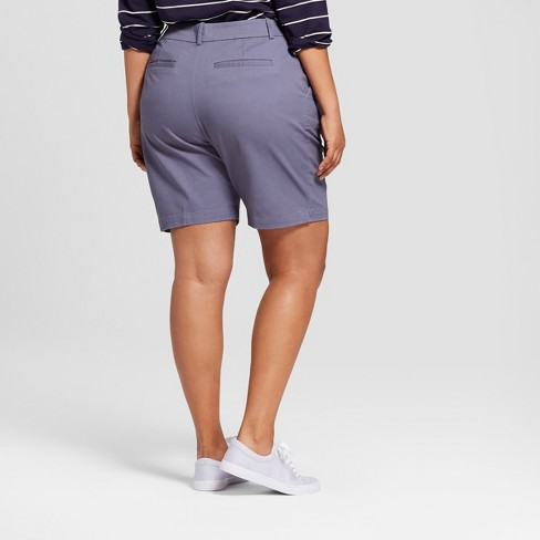 c3174701391 Women s Plus Size Bermuda Shorts - Ava   Viv™ Indigo 24W   Target