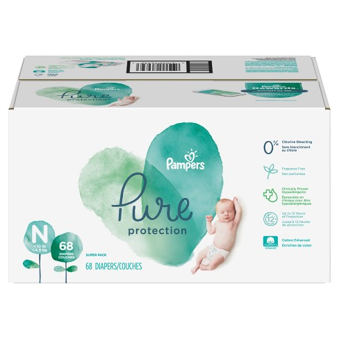 Pampers Pure Protection Diapers, Super Pack (Select Size) - image 1 of 7