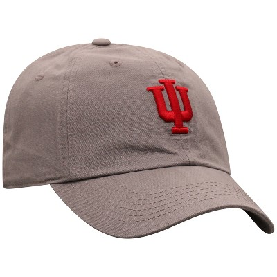 NCAA Indiana Hoosiers Men's Gray Garment Washed Canvas Hat