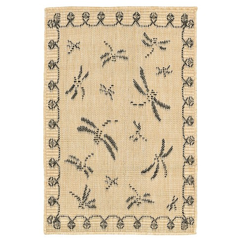 Terrace Dragonfly Neutral Rug - Liora Manne - image 1 of 1