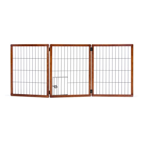 Carlson 3 Panel Freestanding Extra Tall Wood Cat and Dog Gate with Small Door - image 1 of 3