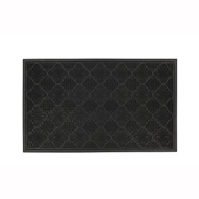 Black Solid Doormat - (1'6 X2'6 )