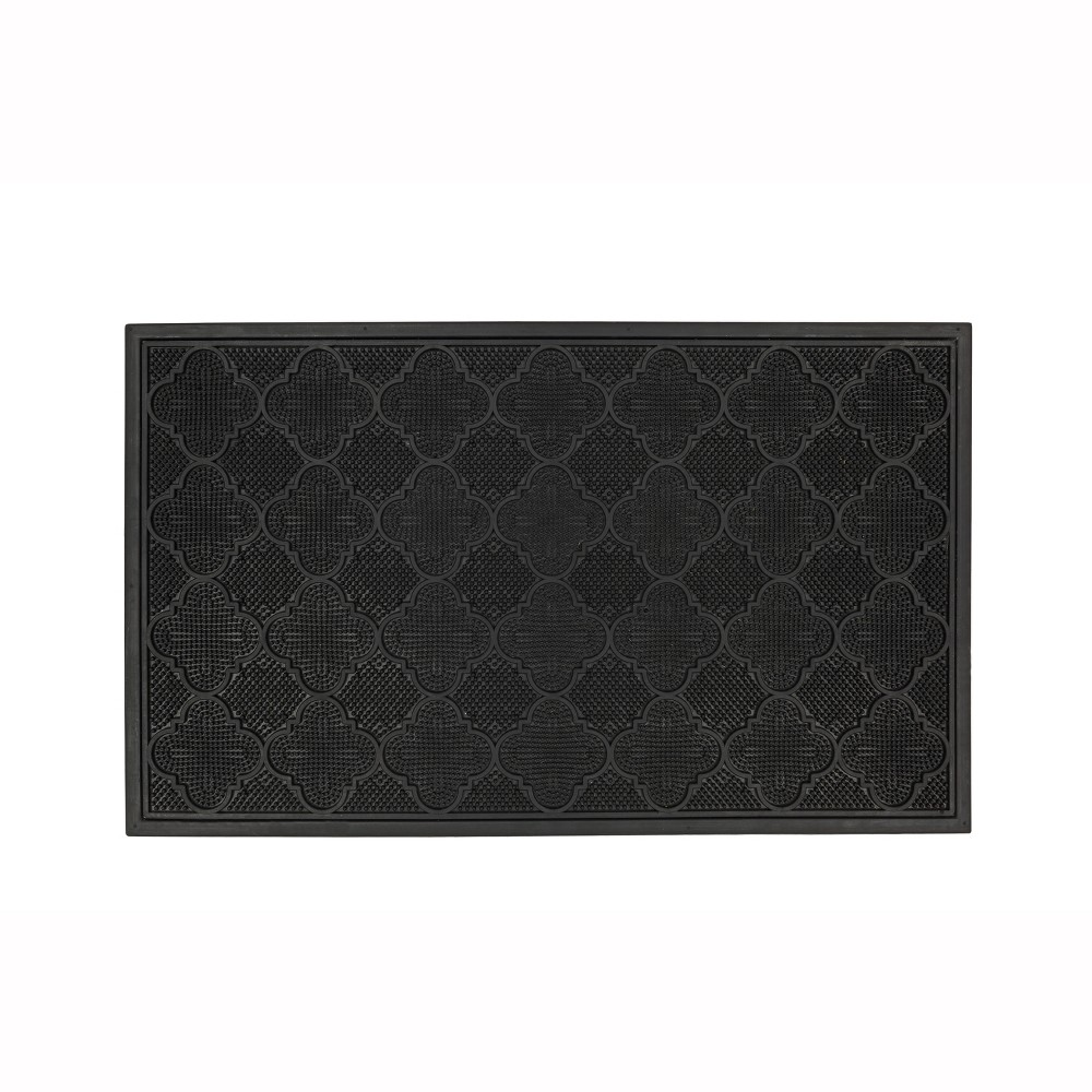 Solid Doormat Black