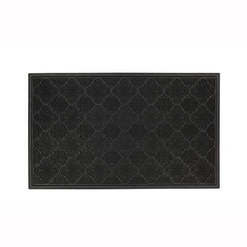 """1'6""""X2'6"""" Solid Doormat Black - Mohawk - image 1 of 3"""