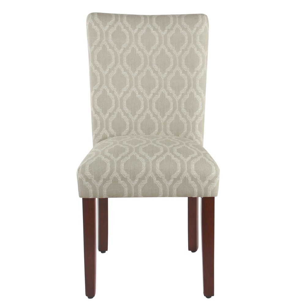 Homepop Set of 2 Classic Parsons Dining Chair Tan Geometric