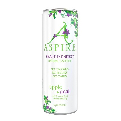 Aspire Apple = Acai Energy Drink - 12oz Can
