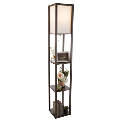 Torchiere Floor Lamp Brown Includes, Torchiere Floor Lamp With Shelves
