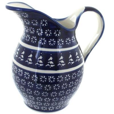 Blue Rose Polish Pottery Winter Nights Pitcher