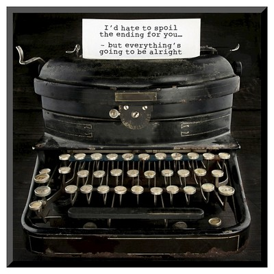 Art.com Old Antique Typewriter With Text by Anna-Mari West - Mounted Print
