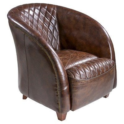 Genial Rahim Tufted Leather Club Chair Brown   Christopher Knight Home