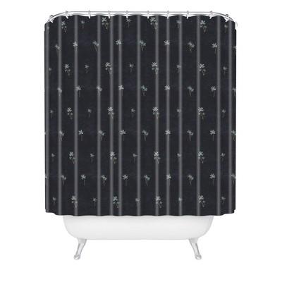 Holli Zollinger Palma Dark Shower Curtain Black - Deny Designs