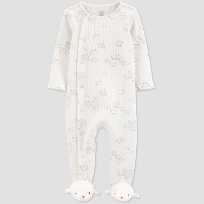 Baby Sheep Footed Pajama - Just One You® made by carter's White