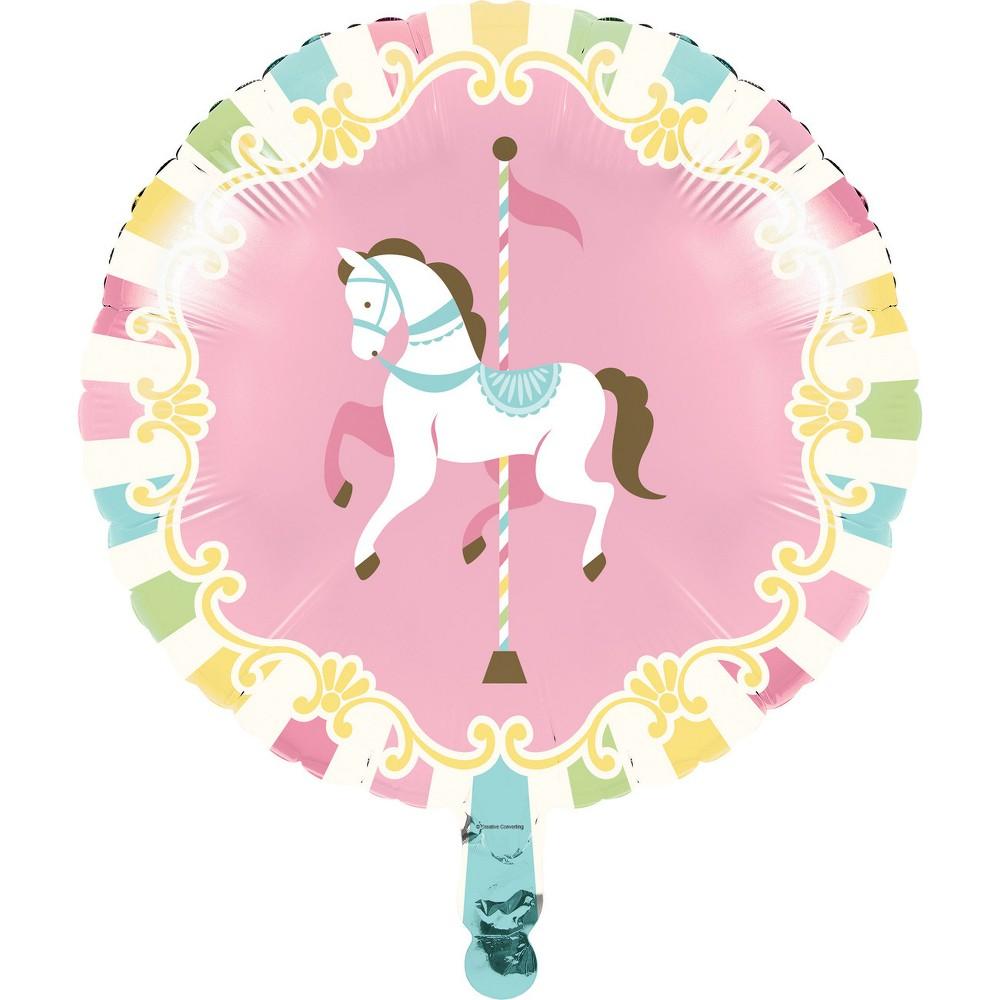 Creative Converting Carousel Mylar Balloon