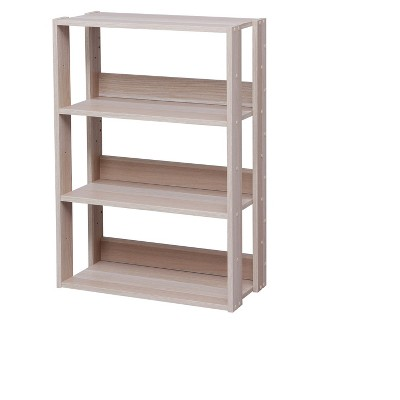 IRIS Wide Open Wood Rack Shelf Natural